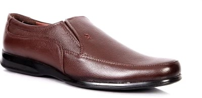 Adam's Heel Men Slip On Shoes(Brown)