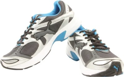 Puma Axis II Ind Running Shoes(White, Grey)