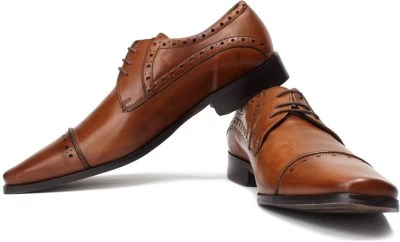 Ruosh Two Tone Finish Genuine Leather Semi-Formal Shoes(Brown)
