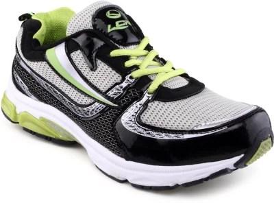 Lancer Black Running Shoes(Black, Green)