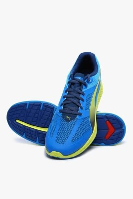 Puma Ignite Mesh Cloisonn��-Poseidon-Sulphur Spring Running Shoes(Blue)