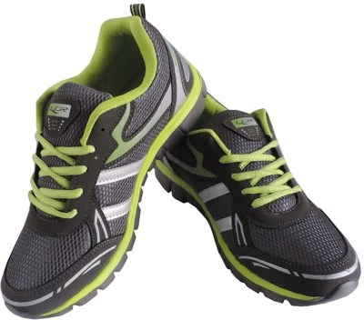 Lancer Crux-Dark Green & Parrot Green Running Shoes(Grey)