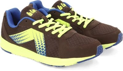 Lee Cooper Men Running Shoes(Brown, Green)