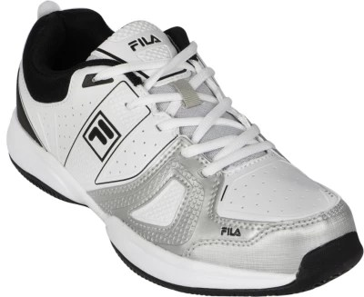 Fila Novaro Lt Tennis Shoes(White, Black, Silver)