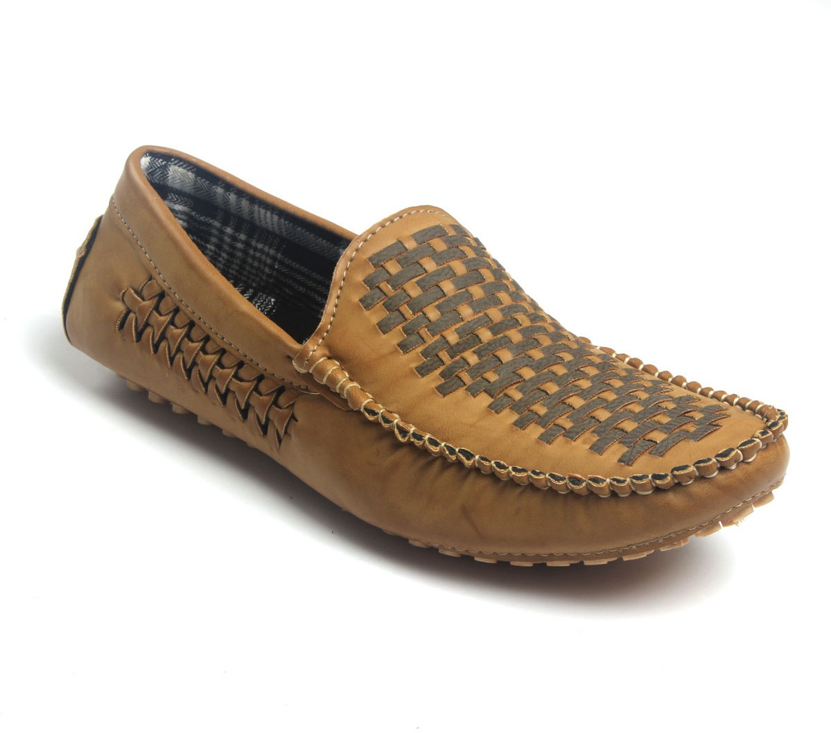 Shoe Centre Lee Graim Flat PVC Loafers(Tan)