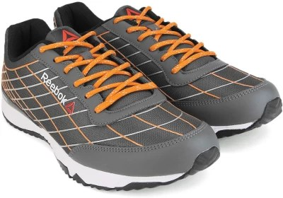 Reebok TOUCH SPRINT Men Running Shoes(Grey, Orange, Silver, White)