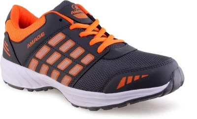 Lancer Running Shoes(Grey, Orange)