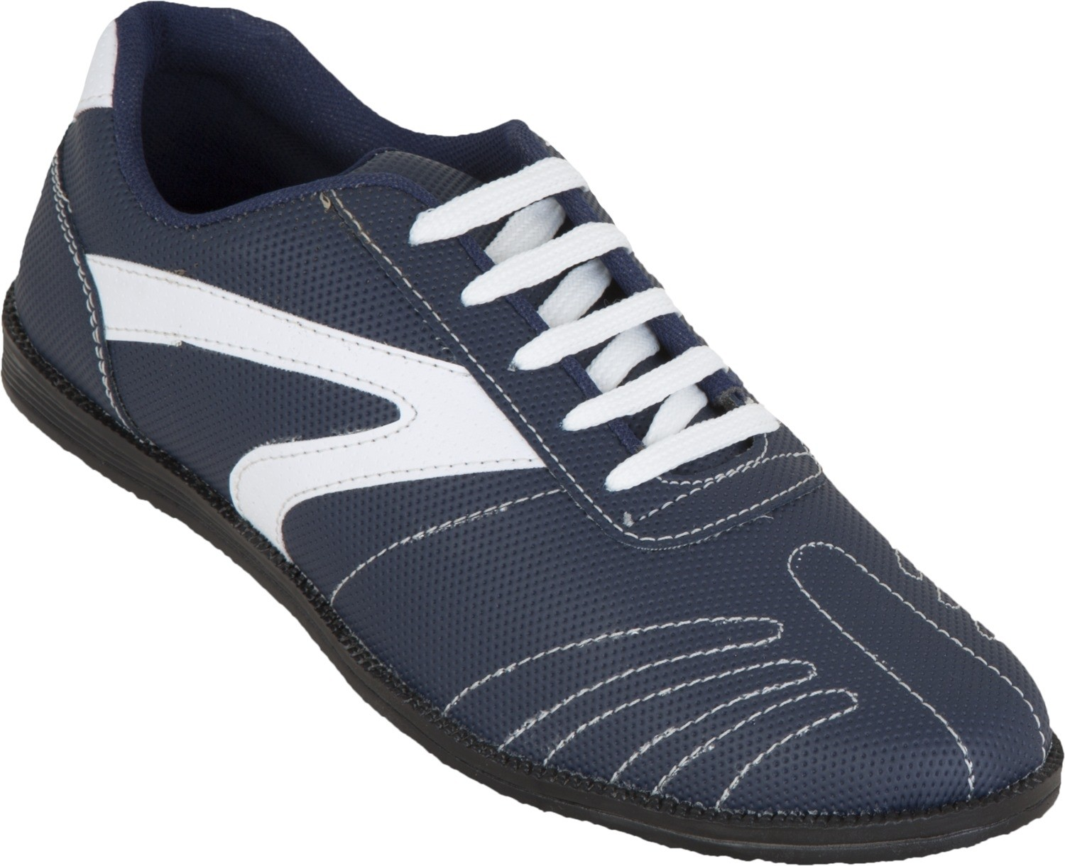 Zovi Blue Textured with White Sneakers(Blue)