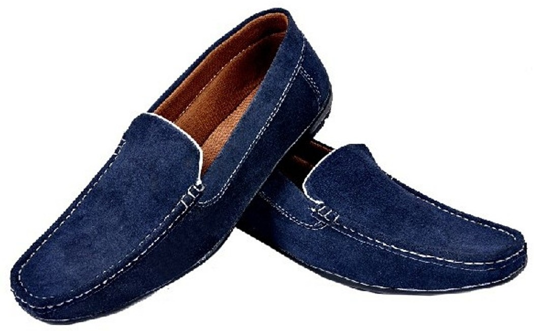 Fashion Zone Fashion Zone Synthetic Blue Loafer Loafers(Blue)
