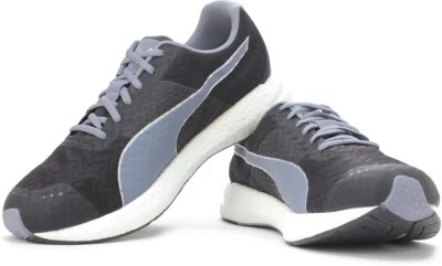 Puma NRGY Running Shoes(Black, Grey)