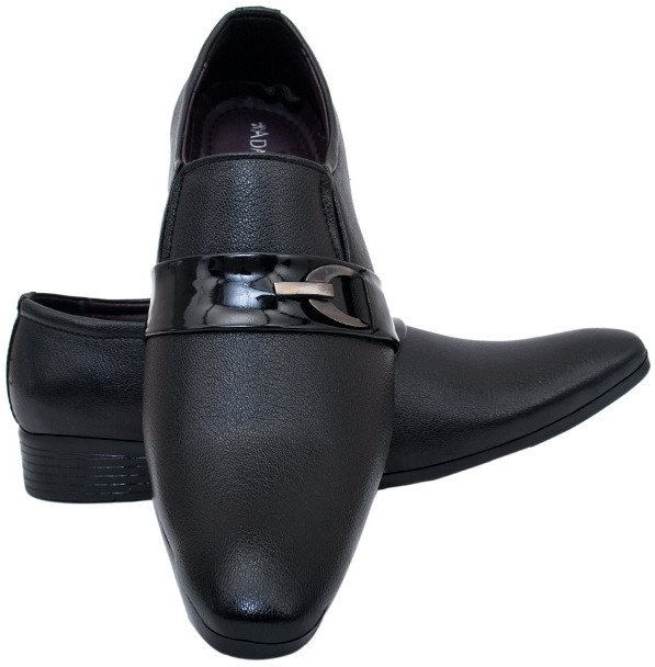 Adam Step Black Slip On Shoes(Black)