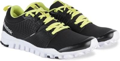 Reebok QUICK TEMPO FLEX Men Running Shoes(Black, White, Yellow)