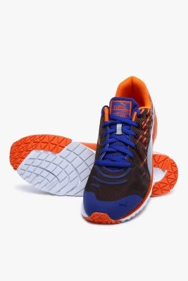 Puma Faas 300 V4 Sodalite Blue-Vermillion Orange-Puma Silver Running Shoes(Black, Orange)
