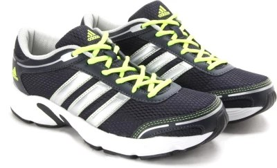 Adidas Running Shoes(Navy, Silver)