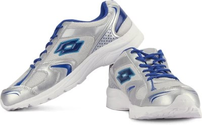 Lotto Running Shoes(Silver, White, Blue)