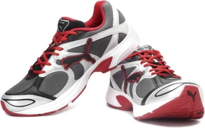Puma Axis III Ind. Men Running Shoes(Black, Silver, Grey, Red)