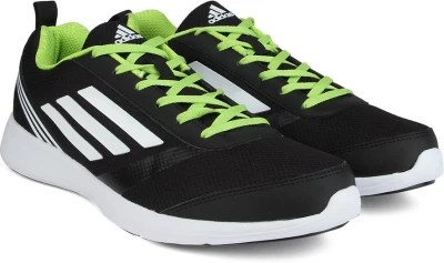 Adidas ADIRAY M Men Running Shoes(Black, Green, White)