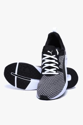 Puma Pulse Xt Knit Black-White Training & Gym Shoes(White, Black)