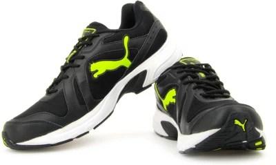Puma Men Running Shoes(Grey, Black, Green)
