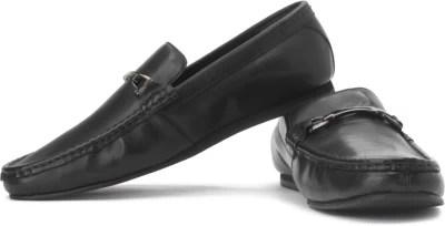 U.S. Polo Assn. Burti Genuine Leather Slip On Shoes(Black)