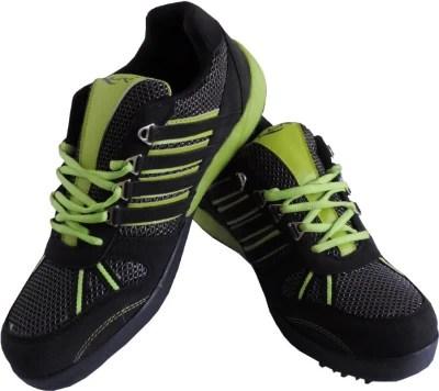 Lancer Sweden_black & Green Sport Running Shoes(Black)