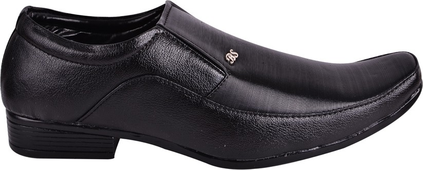 Shoes N Style Slip On Shoes(Black)