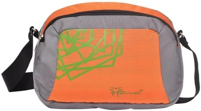 Hawai Men Grey, Orange Polyester Sling Bag