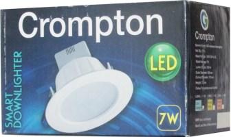 Crompton Led Downlighter 7w (Cool Daylight) Night Lamp(7.2 cm, White)