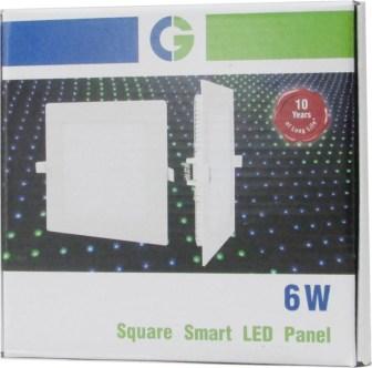 Crompton Led Slim Panel 6w Square (Cool Daylight) Night Lamp(2.5 cm, White)