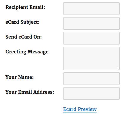 WooCommerce eCard Form
