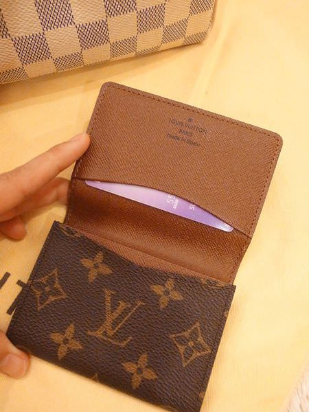 Louis Vuitton-LV-speedy 25-白色棋盤格 N41534-中夾-名片夾-零錢包-monogram-my wedding gift (38)