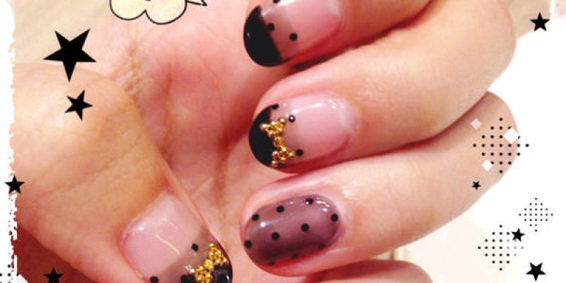 【凝膠指甲】圓點控大愛的透膚點點指彩@AmilyNails愛美麗美式光撩指甲