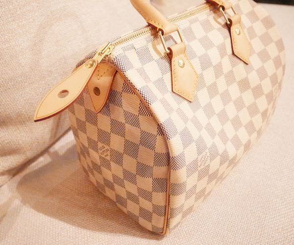 Louis Vuitton-LV-speedy 25-白色棋盤格 N41534-中夾-名片夾-零錢包-monogram-my wedding gift (11)
