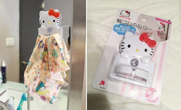 【月子日記】Pikka Pikka洗臉布+大創hello kitty橡皮筋掛鉤的另類用法