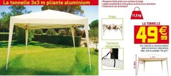Produit Maison Gifi La Tonnelle 3x3 M Pliante Aluminium En Promotion Chez Gifi