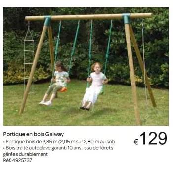 Produit Maison Carrefour Portique En Bois Galway En Promotion Chez Carrefour
