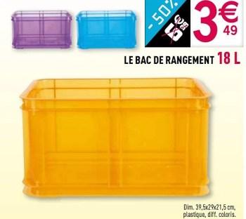 Promotion Gifi Le Bac De Rangement 18 L Produit Maison Gifi Menage Valide Jusqua 4 Promobutler