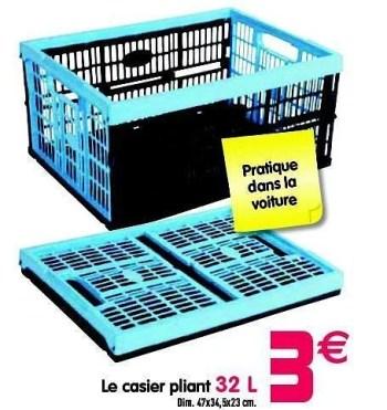 Promotion Gifi Le Casier Pliant Produit Maison Gifi Menage Valide Jusqua 4 Promobutler