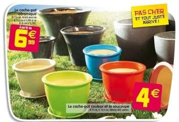 Promotion Gifi Le Cache Pot Ceramique Produit Maison Gifi Jardin Et Fleurs Valide Jusqua 4 Promobutler