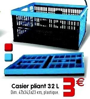 Promotion Gifi Casier Pliant 32 L Produit Maison Gifi Menage Valide Jusqua 4 Promobutler