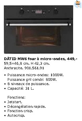 datid mw6 four a micro ondes