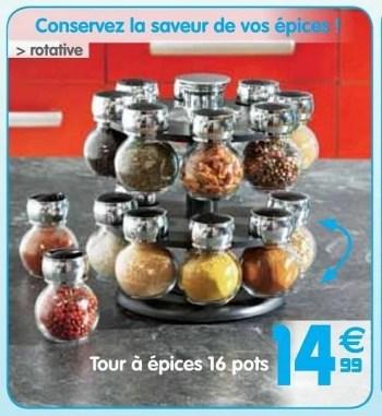 Produit Maison Gifi Tour A Epices 16 Pots En Promotion Chez Gifi