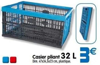 Produit Maison Gifi Casier Pliant 32 L En Promotion Chez Gifi