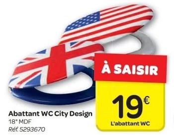 Promotion Carrefour Abattant Wc City Design Produit Maison Carrefour Cuisine Et Salle De Bain Valide Jusqua 4 Promobutler