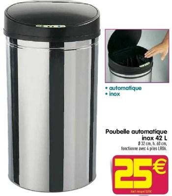 Produit Maison Gifi Poubelle Automatique Inox En Promotion Chez Gifi