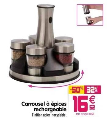 Produit Maison Gifi Carrousel A Epices Rechargeable En Promotion Chez Gifi