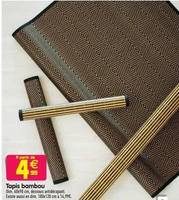 tapis bambou