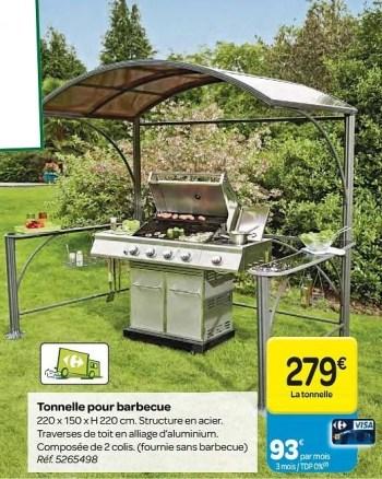 tonnelle pour barbecue