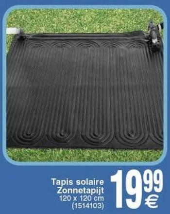 tapis solaire zonnetapijt