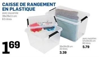 Produit Maison Action Caisse De Rangement En Plastique En Promotion Chez Action